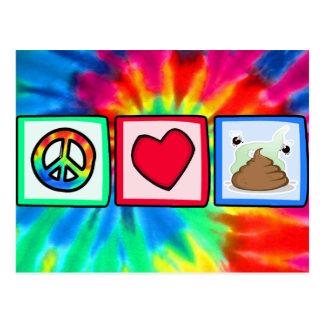 Postal Paz, amor, impulso