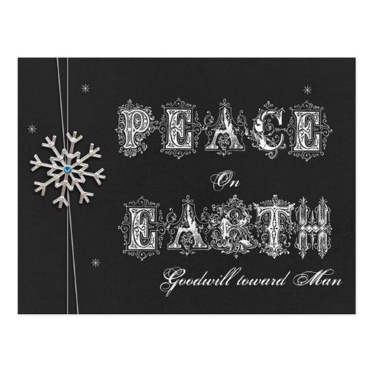 Postal Paz de la pizarra en voluntad de la tierra hacia