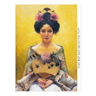 Postal Pedro Sáenz (1864-1924), japonesa de Disfraz