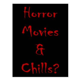 Postal ¿Películas de terror y frialdades?
