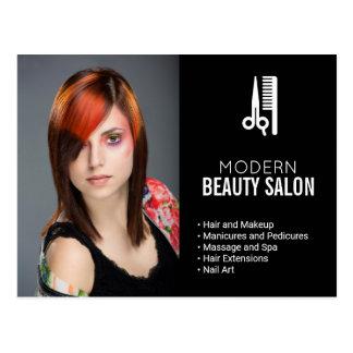 Postal Pelo y salón de belleza del maquillaje que