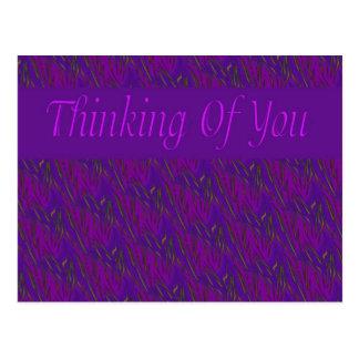 Postal Pensamiento en usted