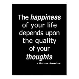Postal ¿Pensamientos de la calidad? Entonces una vida