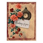 Postal Pensando en el estilo de época de Floral Watch
