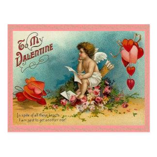 Postal pensativa de la tarjeta del día de San