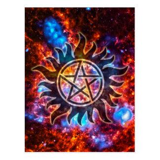 Postal Pentagram cósmico