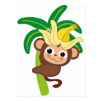 Postal Pequeña colección 105 del mono