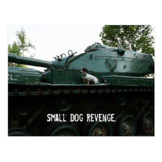 Postal Pequeña venganza del perro
