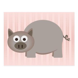 Postal Pequeño cerdo de Brown
