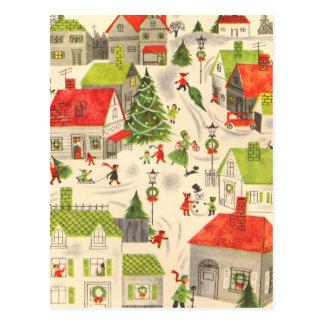 Postal Pequeño pueblo del navidad
