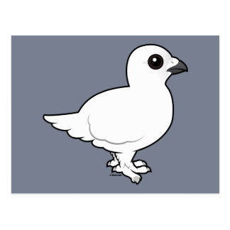 Postal Perdiz nival del sauce de Birdorable, invierno