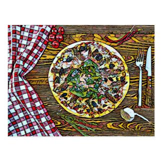 Postal Perfección de la empanada de pizza para las