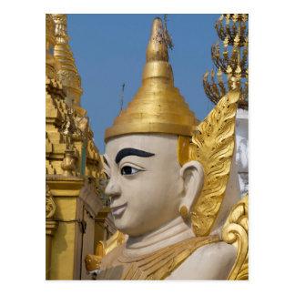 Postal Perfil de la estatua de Buda