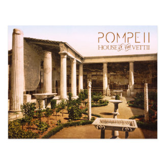 Postal Peristyle de la casa del Vettii, Pompeya