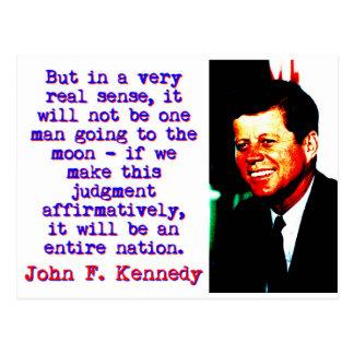 Postal Pero en el sentido muy real de A - John Kennedy