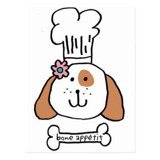 Postal Perrito del cocinero