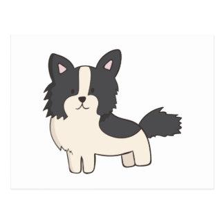 Postal Perro blanco y negro
