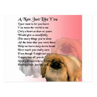 Postal Perro de Pekingese - poema de NaN