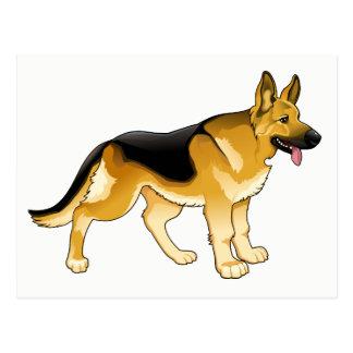 Postal Perro de perrito del pastor alemán - hola,