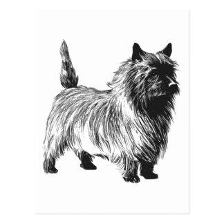 Postal Perro de Terrier de mojón