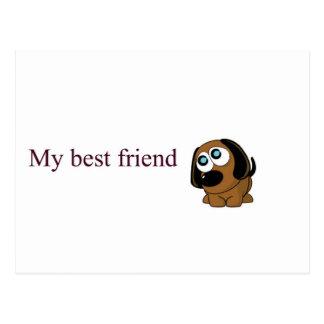 Postal Perro del mejor amigo