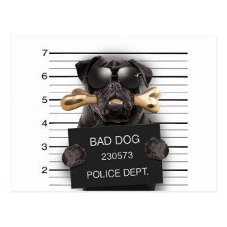 Postal Perro del Mugshot, barro amasado divertido, barro