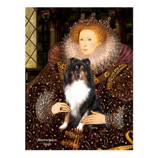 Postal Perro pastor de Shetland (Tri11) - reina
