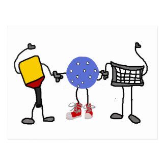 Postal Personajes de dibujos animados divertidos de