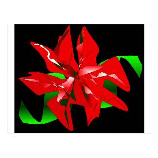 Postal Personalizable de la flor del navidad