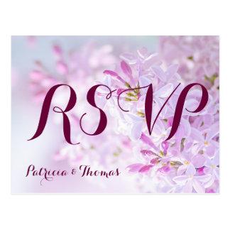 Postal Personalizable de RSVP del boda
