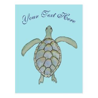 Postal personalizada de la tortuga de mar