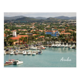 Postal Personalizado del puerto deportivo de Aruba