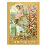 Postal Pesca para el chocolate