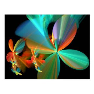 Postal Pétalos anaranjados de la flor del arte del