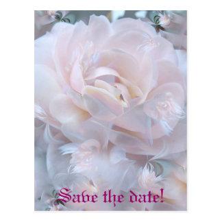 Postal Pétalos color de rosa