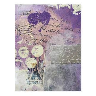 Postal Pétalos violetas - colección