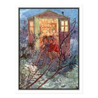 Postal Peter Pan y Wendy de Alicia B. Woodward