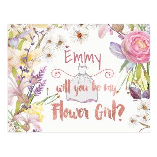 Postal Petición floral del florista de los manojos