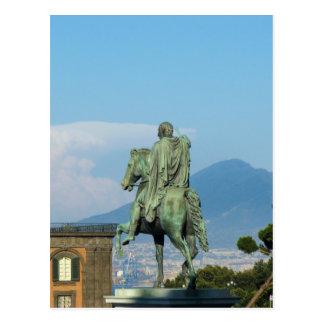 Postal Piazza del Plebiscito, Nápoles
