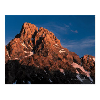 Postal Picos del parque nacional magnífico de Teton,