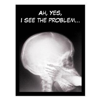 Postal Pie en radiografía de la boca