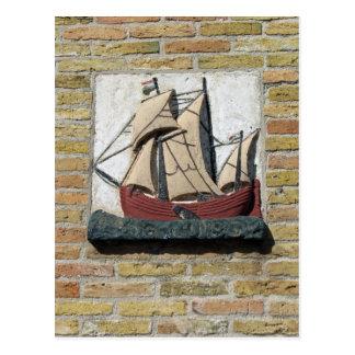 Postal Piedra del aguilón de Holanda de la nave del