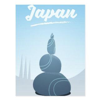 Postal Piedras derechas de Japón apiladas en el paisaje