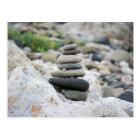 Postal Piedras zen en la playa de Almería