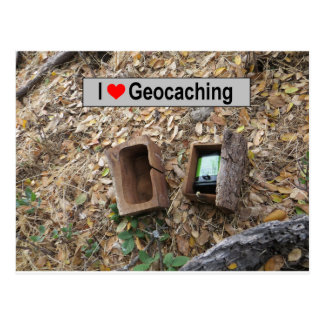 Postal Piel de la caja de madera: Geocaching