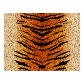 Postal Piel del animal del tigre de Bengala