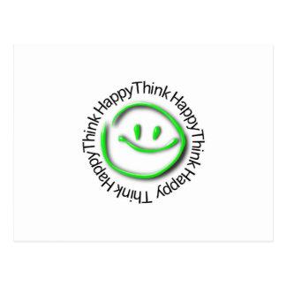Postal Piense feliz (la edición de neón verde)