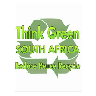 Postal Piense Suráfrica verde