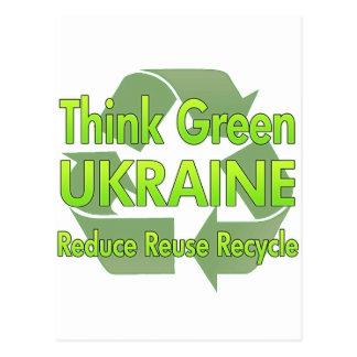 Postal Piense Ucrania verde