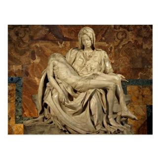 Postal Pieta de Miguel Ángel